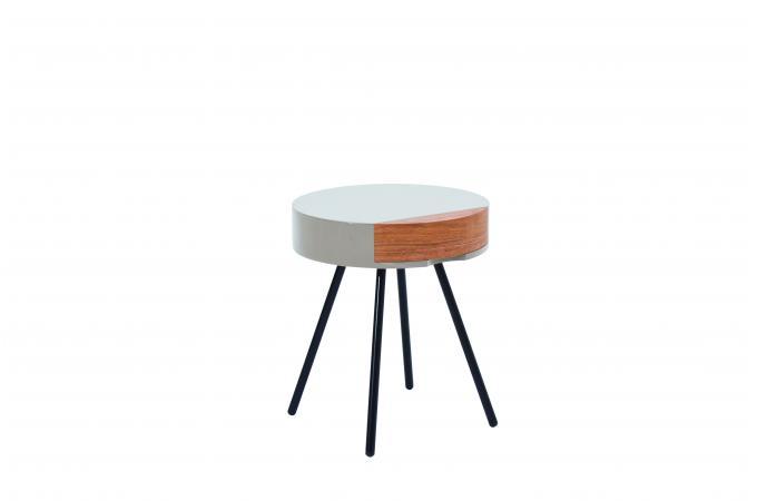 table d 39 appoint ronde grise clecir design sur sofactory. Black Bedroom Furniture Sets. Home Design Ideas