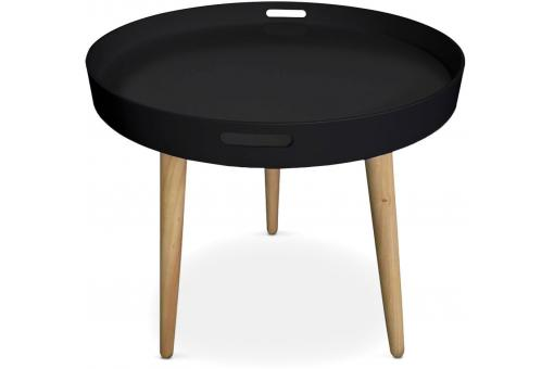 Table D'Appoint Ronde  Scandinave Noir KOIKIL