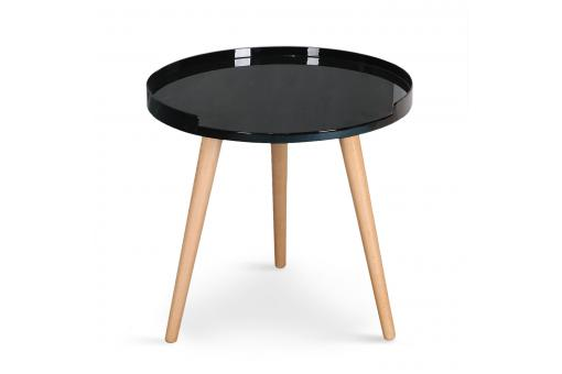 Table D'Appoint Scandinave Noir CLEA SoFactory
