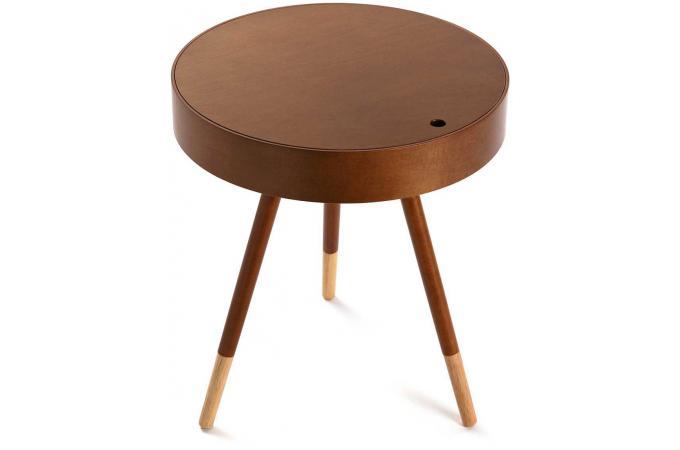 Table Style Design Scandinave D'appoint Canelle Bois Foncé En D46 MVSUzp