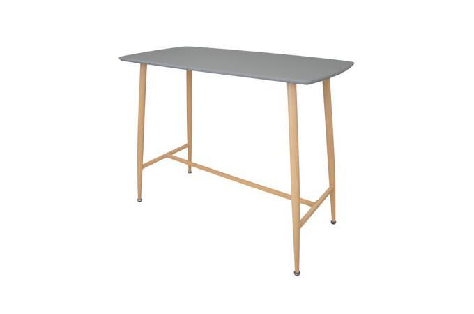 Table de Bar Rectangulaire Gris LATIKA design sur SoFactory