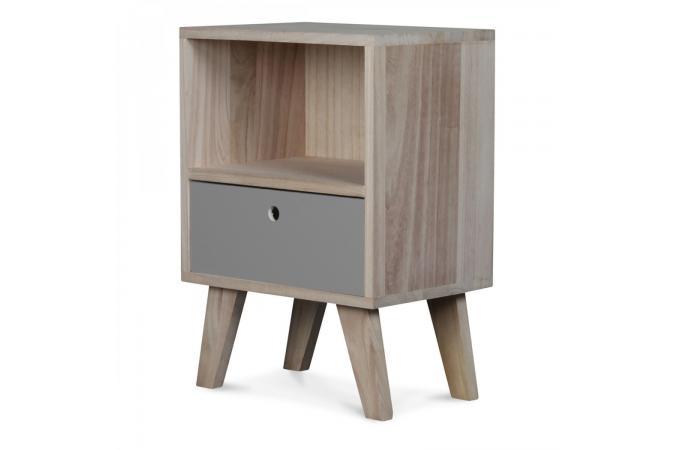 Table de Chevet Bois Gris VANCOUVER design sur SoFactory
