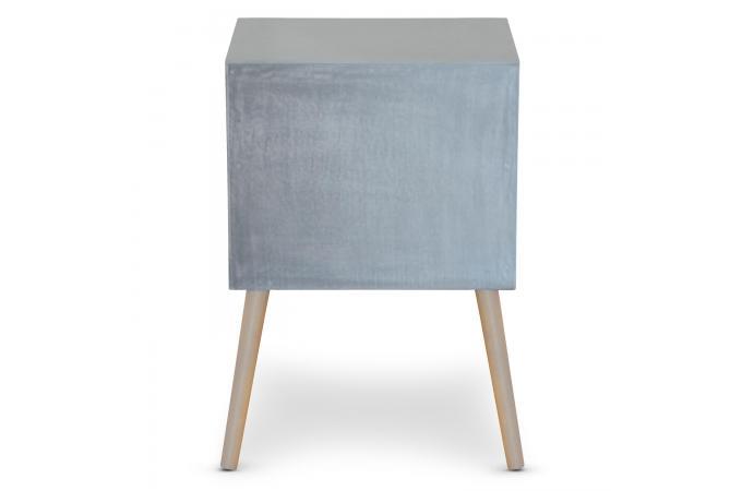 Table de chevet grise 2 tiroirs eloisa design sur sofactory - Table de chevet grise ...