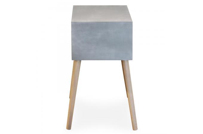 table de chevet grise et bois 1 tiroir eloisa design sur sofactory. Black Bedroom Furniture Sets. Home Design Ideas
