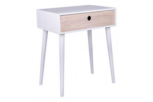 Table de chevet scandinave blanche souris design sur sofactory - Table de chevet blanche ...