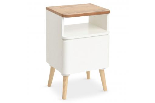 Table de Chevet Scandinave Bois Blanc CELILO SoFactory