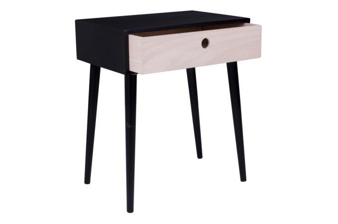 Table de chevet scandinave noire souris design sur sofactory - Table de chevet style scandinave ...