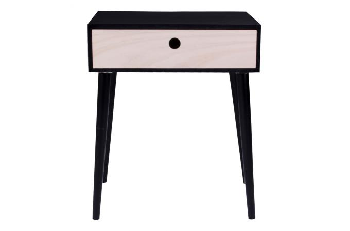 table de chevet scandinave noire souris design sur sofactory. Black Bedroom Furniture Sets. Home Design Ideas