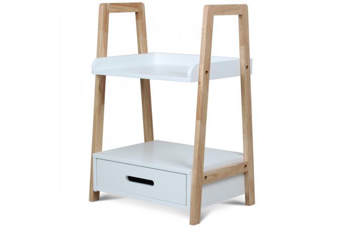 Table de chevet style scandinave pliable blanche en bois h60 laura design sur sofactory - Table de chevet style scandinave ...