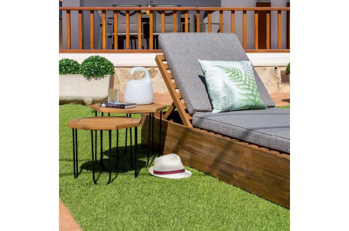 Table de Jardin Hexagonale Acacia MAELLE design sur SoFactory