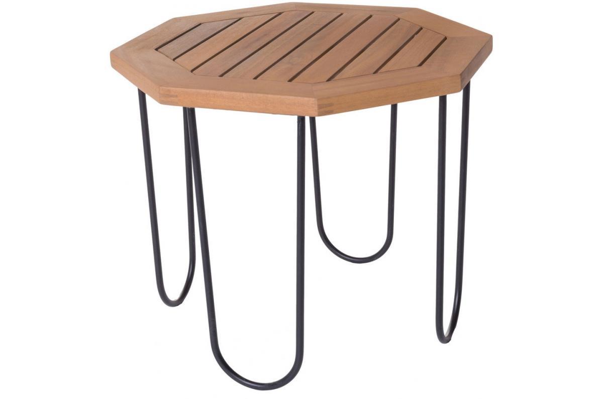 Table de Jardin Hexagonale Acacia MAELLE