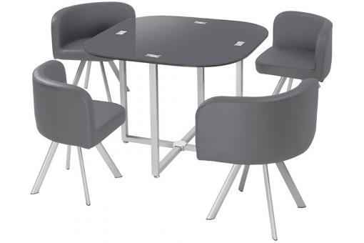 Table + Chaises 90 Gris IPNOZ SoFactory