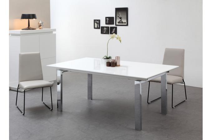 Blanche Et Sofactory Métal Sur Table Kava 180270cm Design Extensible UVMpzS