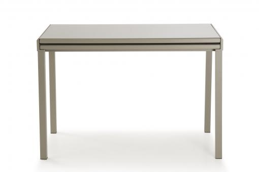 Table Extensible Verre Taupe MIRANDA So295163-0000