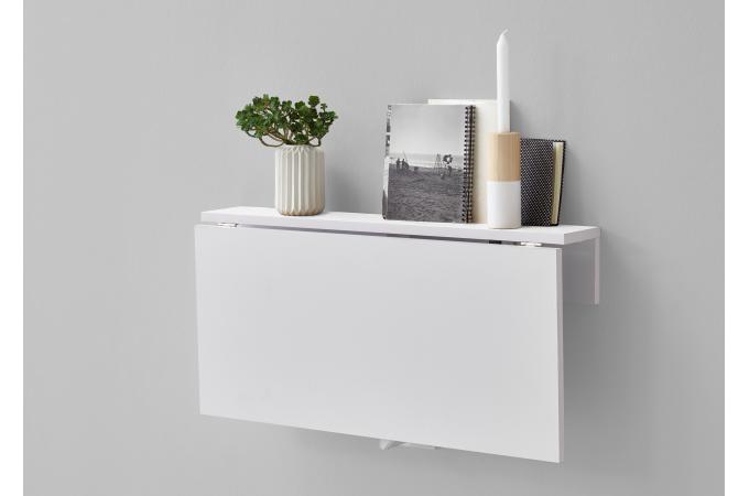 Table Murale Pliante Blanc Brillant Niansc Design Sur Sofactory