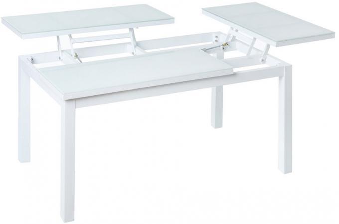Tablie Pliante Extérieur Aluminium Blanche CYRIELLE design sur SoFactory