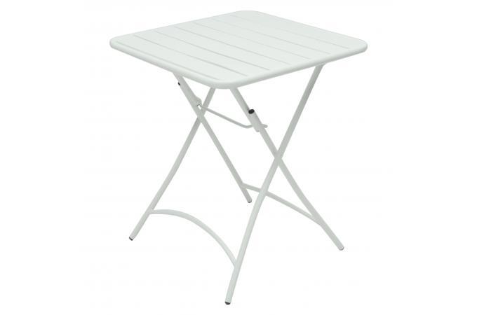 Table Pliante M Tal Blanche Laria Design Sur Sofactory
