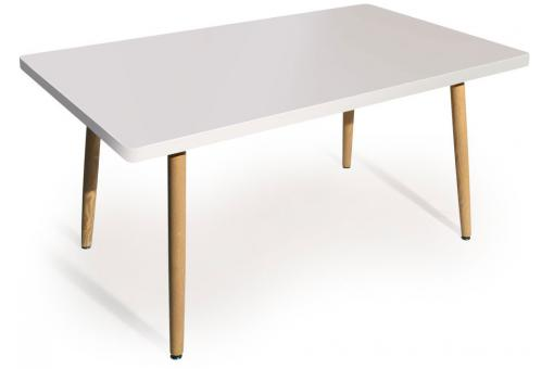 Table rectangulaire scandinave blanc frangie design sur for Table rectangulaire scandinave