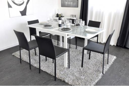 Table extensible Bois Blanc Lo58724-0000