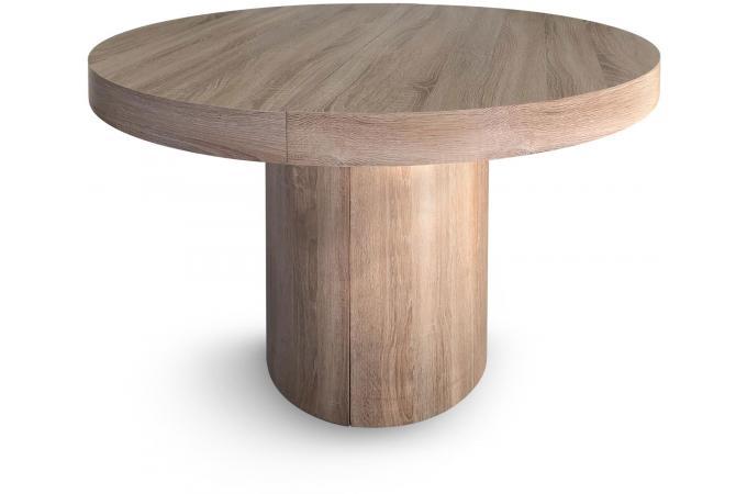 Table ronde extensible ch ne megara design sur sofactory - Table ronde pas cher occasion ...