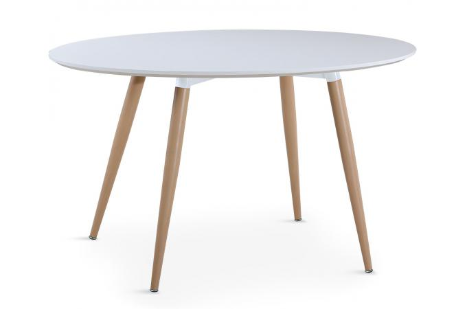 Table Ovale Scandinave Blanche MAEL SoFactory