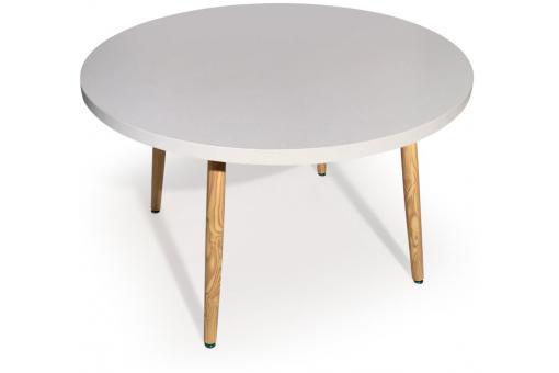table ronde scandinave blanc frangie design sur sofactory. Black Bedroom Furniture Sets. Home Design Ideas