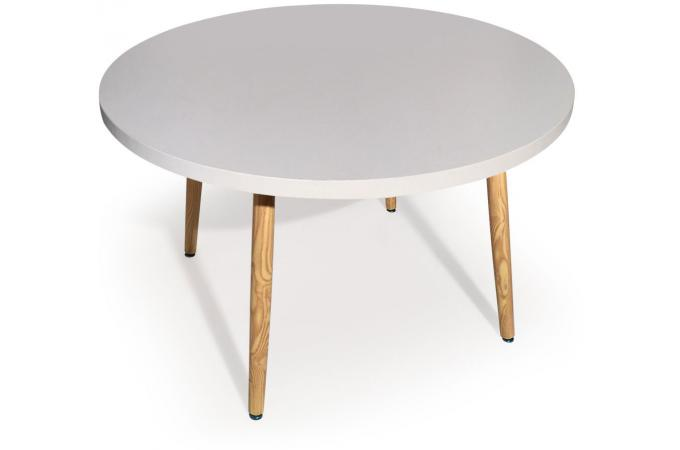 Table Ronde Scandinave Blanc FRANGIE SoFactory