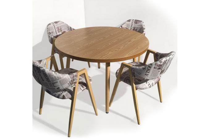Table ronde scandinave fr ne frangie design sur sofactory for Table ronde style scandinave