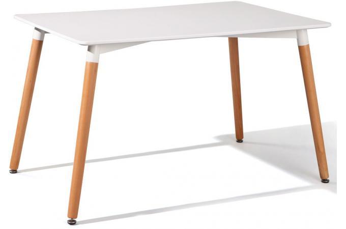 Table scandinave blanche 80x120 livius design sur sofactory - Table blanche scandinave ...