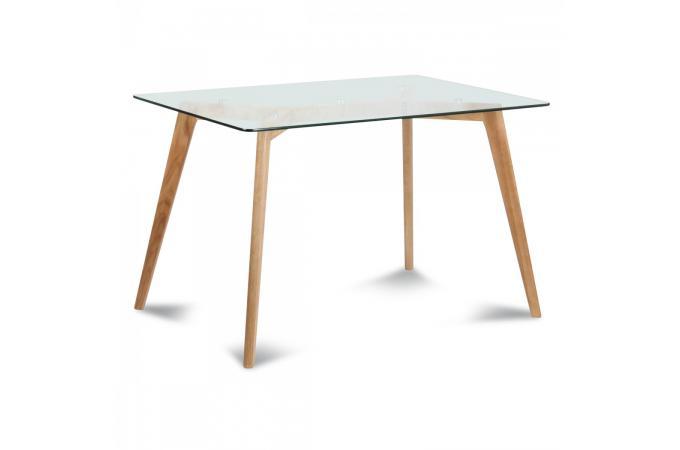 Table verre et bois scandinave 180x90x75 POLAAR design sur SoFactory fd3de2f037af
