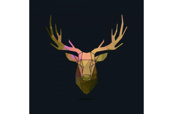 Tableau Animal Brown Deer 50x50 Louka Déco Design Sur Sofactory