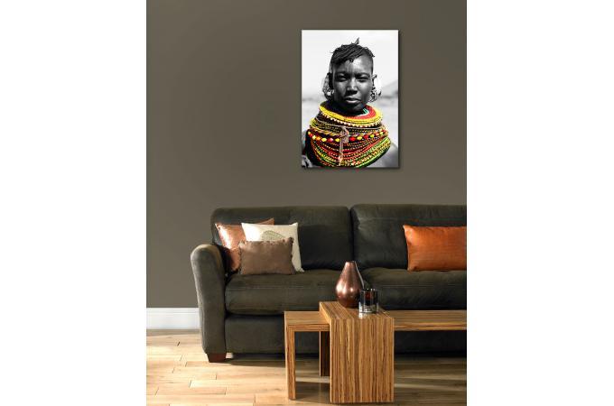 tableau impression sur verre ethnique gris et color 70x100 kinship d co design sur sofactory. Black Bedroom Furniture Sets. Home Design Ideas