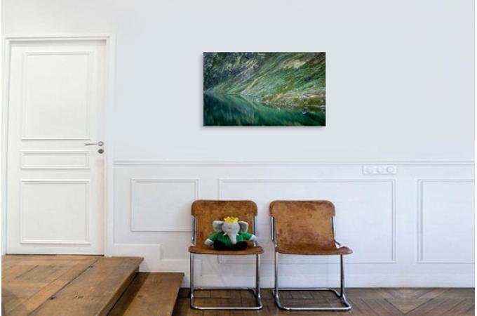 tableau scandinave montagnes norv giennes 80x55 luis. Black Bedroom Furniture Sets. Home Design Ideas