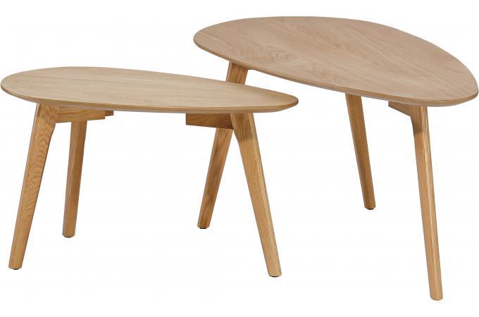 set de 2 tables gigognes en bois chouchou design sur sofactory. Black Bedroom Furniture Sets. Home Design Ideas