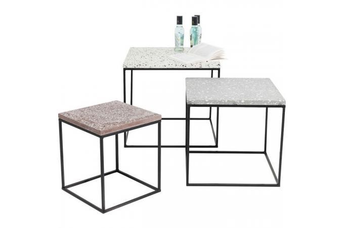 Set De 3 Tables Gigognes Effet Béton Onalaska Design Sur Sofactory