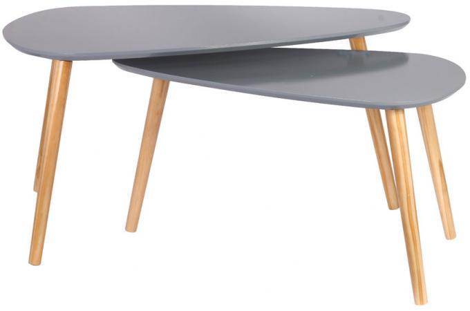 Tables Galets Gigognes Grises Brad Design Sur Sofactory