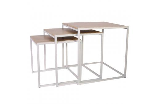 Tables Gigognes 45x45cm Blanc SCILLY SoFactory