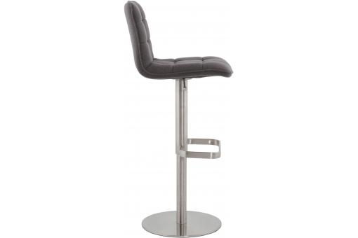Tabouret assise capitonnée anthracite KELLY KO123092-0000