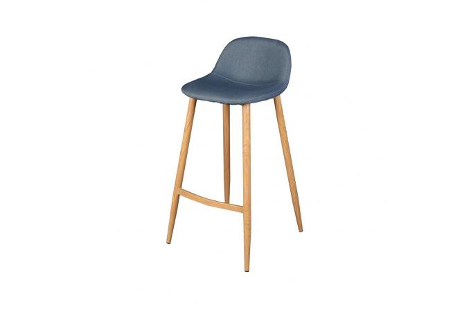 Lot de 4 tabourets de bar scandinave bleu otan design sur for Tabouret bar scandinave