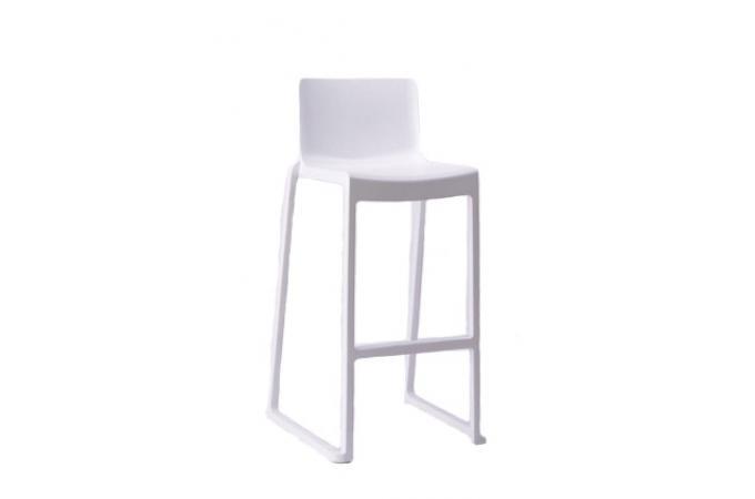 Tabouret de bar design blanc vika design sur sofactory for Tabouret de bar blanc