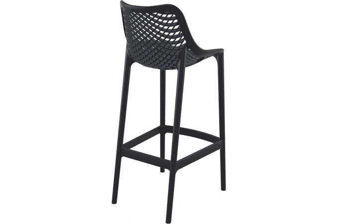 tabouret de bar design noire abigael - Tabouret Bar Design