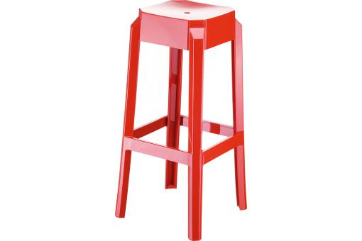 Tabouret de bar design rouge laqué SOXX