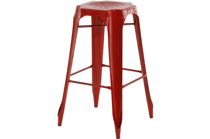 Tabouret de bar industriel rouge samson design sur sofactory - Tabouret de bar design rouge ...