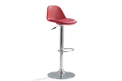 Tabouret De Bar Rouge Design Monaga