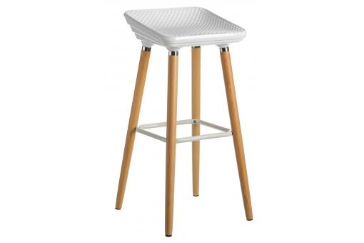 tabouret de bar scandinave blanc et bois favia design sur sofactory. Black Bedroom Furniture Sets. Home Design Ideas