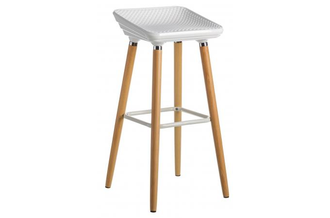 tabouret de bar scandinave blanc et bois favia design sur. Black Bedroom Furniture Sets. Home Design Ideas