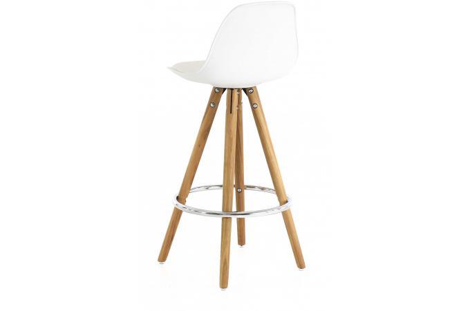 tabouret de bar scandinave blanc terri design sur sofactory. Black Bedroom Furniture Sets. Home Design Ideas