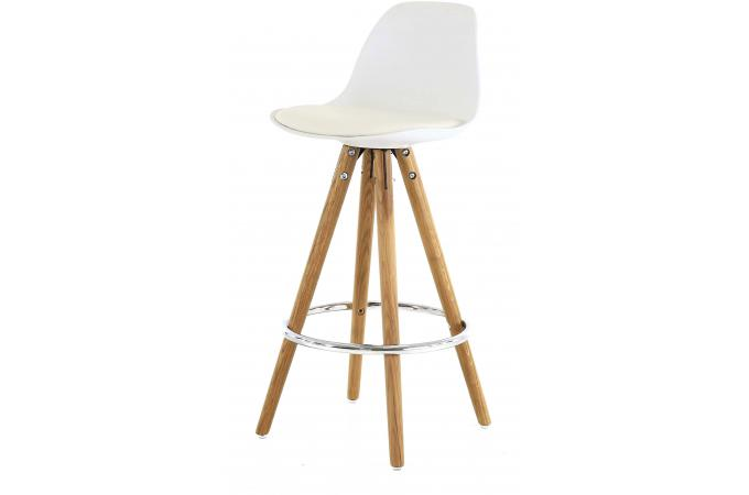 Tabouret de bar scandinave blanc terri design sur sofactory for Table haute design scandinave