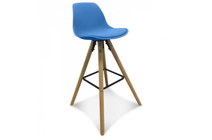tabouret de bar scandinave bleu terri design sur sofactory. Black Bedroom Furniture Sets. Home Design Ideas