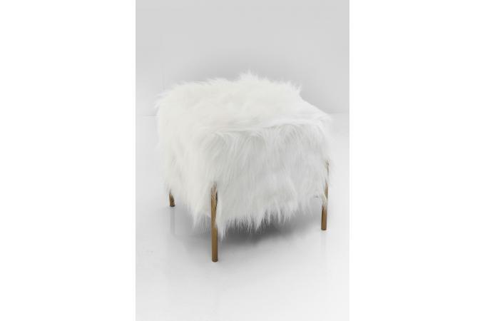 Tabouret fausse fourrure blanc neenah design sur sofactory
